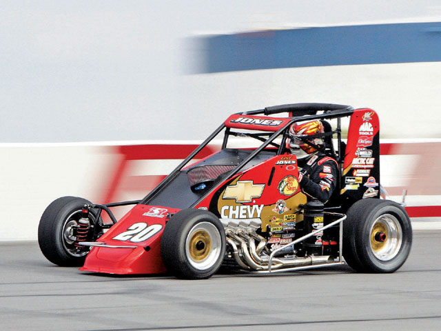 Levi Jones behind the wheel testing the new motor. The TSR driver had nothing but praise for the new engine.