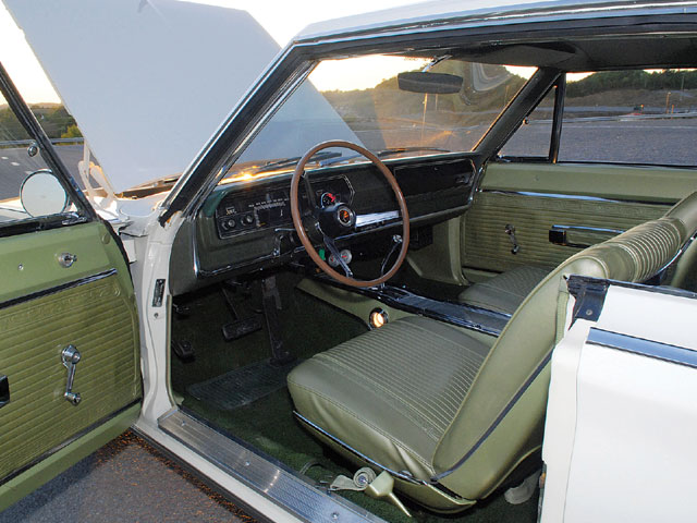 Thanks to Legendary Auto Interiors, the interior looks like it came from the factory.