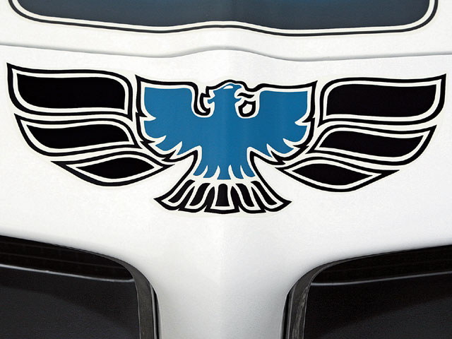 An Endura bumper graced the front end of all the '70-'73 Trans Ams and Firebirds. Only the Trans Ams came with a decal.