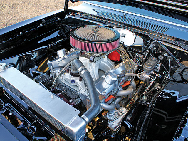 The Formula-S option fitted this Barracuda with a four-speed and a 340. The engine was rebuilt by Bryan, who owns Sloan Racing. It's now 394 inches and an assortment of performance parts.