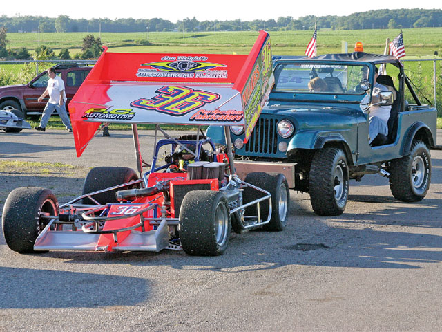 Direct drive means that you have to push start Supermodifieds, just like a Sprint Car.