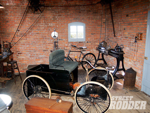 For many of the Road Tourians, the trip began with a tour of Greenfield Village. There's something inspiring about being in the display of Henry Ford's Bagley Ave. workshop.
