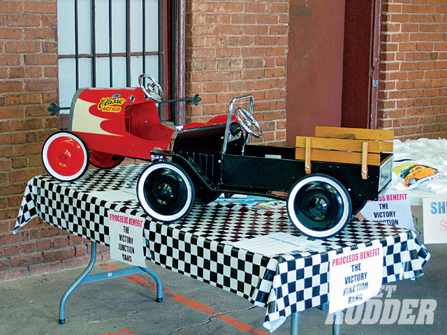 Classic Automobilia donated two pedal cars, a pickup that was autographed by Corky Coker, and a just-released '34 Classic Hot Rod to the auction benefiting the Victory Junction Gang.