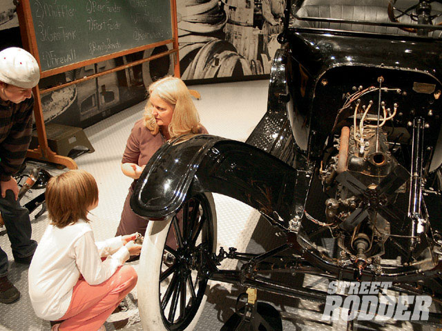 new at the Henry Ford is the interactive Model T display. Rather than being plastered with don't touch signs, kids are invited to work on this one by putting the disassembled T back together.