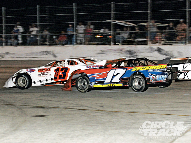Side by side: #42 Marshall Austin and #2 Paul Gibbs.