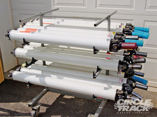 Many of the professional teams will keep an inventory of drive shafts that will be correct for each of the different racetracks at which they will race. Different cars may need different lengths and/or diameters and wall thickness designs. It's imperative that each shaft be well labeled and documented to prevent an error in installation.