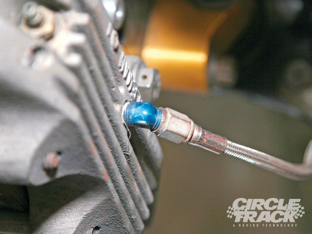 Inspect each end of each hose for leaks, damage from contact with wheels, wrenches, feet, and so on. If you have ever broken a tie rod, the brake line might have been stretched and broken inside. Leave nothing to chance. Replace all flexible lines at least once a year.