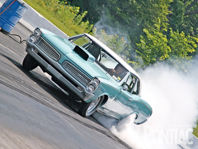 This '66 Tempest amazed the crowd at Lebanon Valley Dragway with its billowing-smoke burnout.