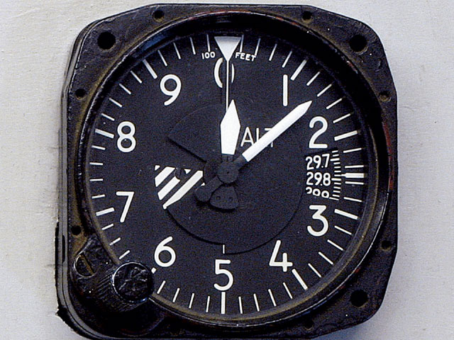 Surplus aircraft altimeters are widely available at reasonable prices. Aircraft pilots turn the adjustment knob to the control tower's corrected barometer reading, thereby calibrating the meter to the correct local altitude so the plane doesn't crash into the runway. However, if the hot rodder keeps the gauge set on 29.92 in-Hg, it registers the current density altitude.