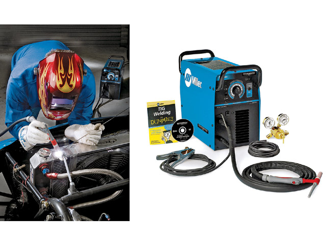 Miller's Diversion 165 has a 20 percent duty cycle at 150 amps. It'll cost you $1,617 to dabble in TIG welding, but it can weld material as thin as 22 gauge, or as thick as 3/16 inch in a single pass. TIG welding isn't for the beginner, or the faint of heart--practice makes perfect!