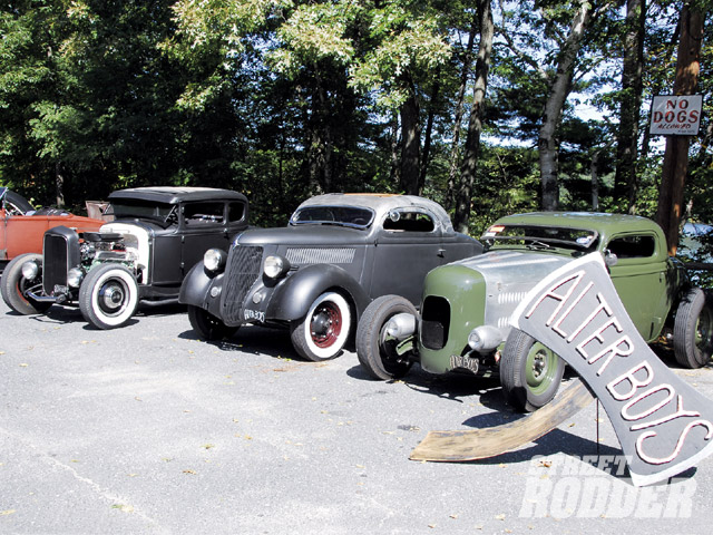 The Alter Boys are always hard at work building wicked period-perfect hot rods, and this year the lineup of the club's cars just left you in awe. With a swing of the axe, they bring a new level of cool to vintage iron.