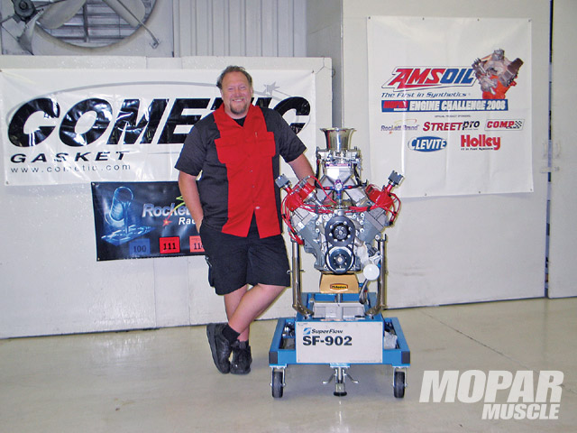 Engine builder August Cederstrand of Cederstrand Racing engines brought a powerful and reliable 440 to our contest, easily tuning his engine to 670.9 hp and 573.1 lb/ft of torque for a combined score of 1244.