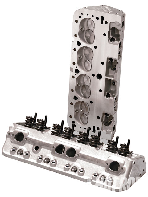 Edelbrock's new lower-buck E-Street heads are available for Chevys (shown) at $949.95 or small Fords ($973.95). The Ford heads have 170cc intake runners, 60cc chamber volumes, 1.60-inch exhaust valves, and your choice of 1.90- or 2.02-inch intake valves.