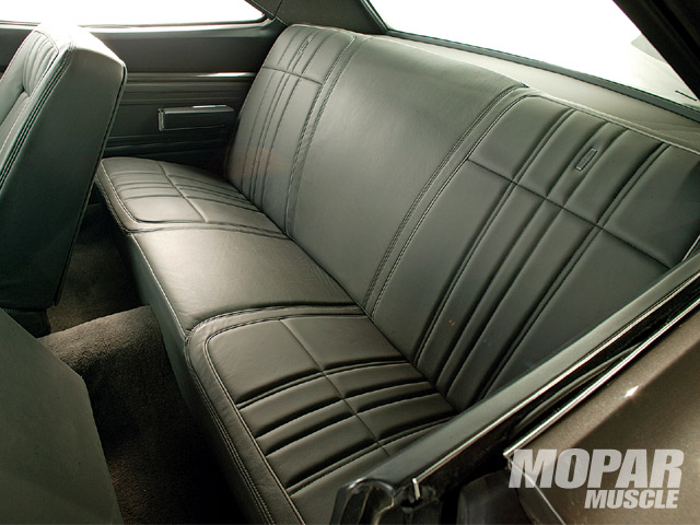 Stitcher Jerry Noone performed his magic on the interior of the car using a very comfortable to sit on leather.