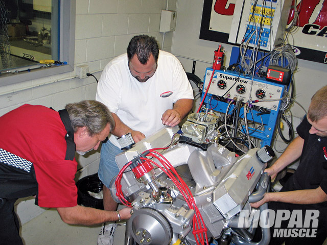 The JMS Racing Engines entry was ready to run, and after bolting it to Comp's dyno, engine builder Mike Johnson made six back-to-back pulls without performing many tune-up changes.
