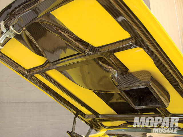 The hood scoop is modeled after the AAR version but has been enlarged and made fully functional.