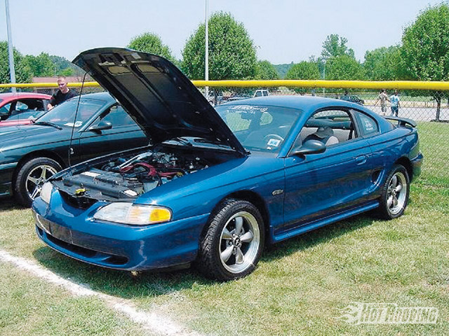 Late-model Mustangs look great, but compared to traditional muscle cars or their GM competition, they just aren't that fast. This '96 GT test mule looked really sharp with its replacement '97 engine installed, it just wasn't fast.