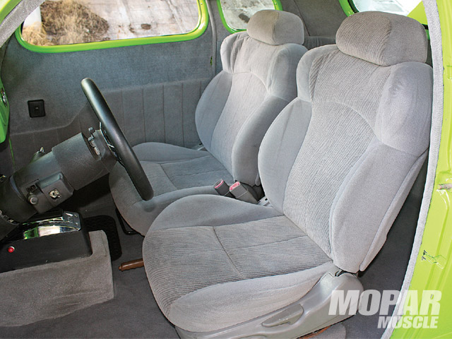 The seats were sourced from a SHO Taurus.