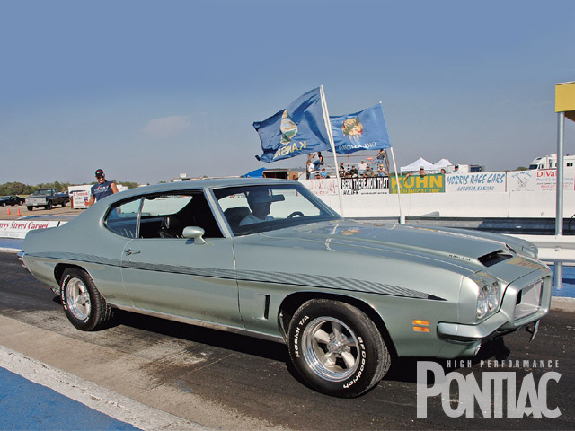 This '72 GTO owned by Jim Berglund won the President's Pick Award during the heated car show competition. Check out this GTO's ducktail rear spoiler. They were never released on '72 production cars.