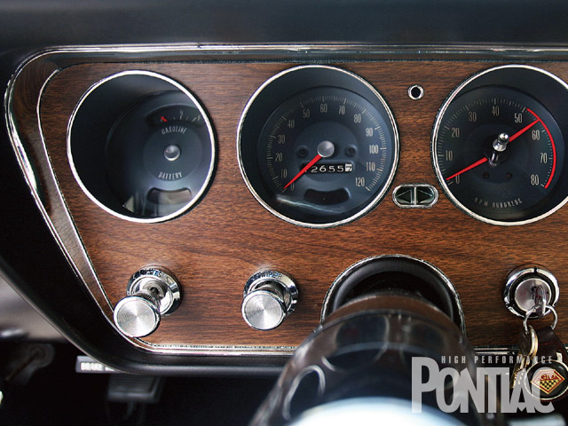 The Rally gauges are original to the Goat.