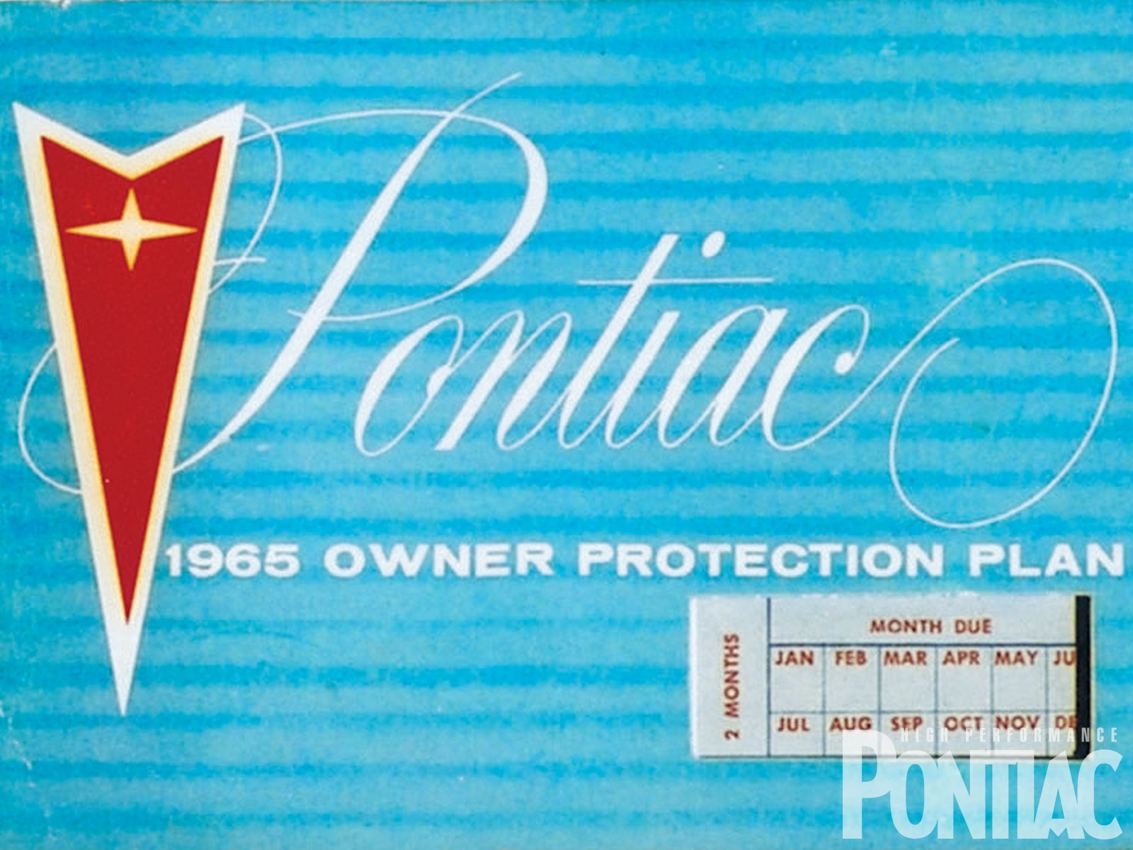 From '63-'67, the Ident-O-Plate or Protect-O-Plate could be found affixed to the inside back cover of their Owner Protection Plans. This example is from '65.