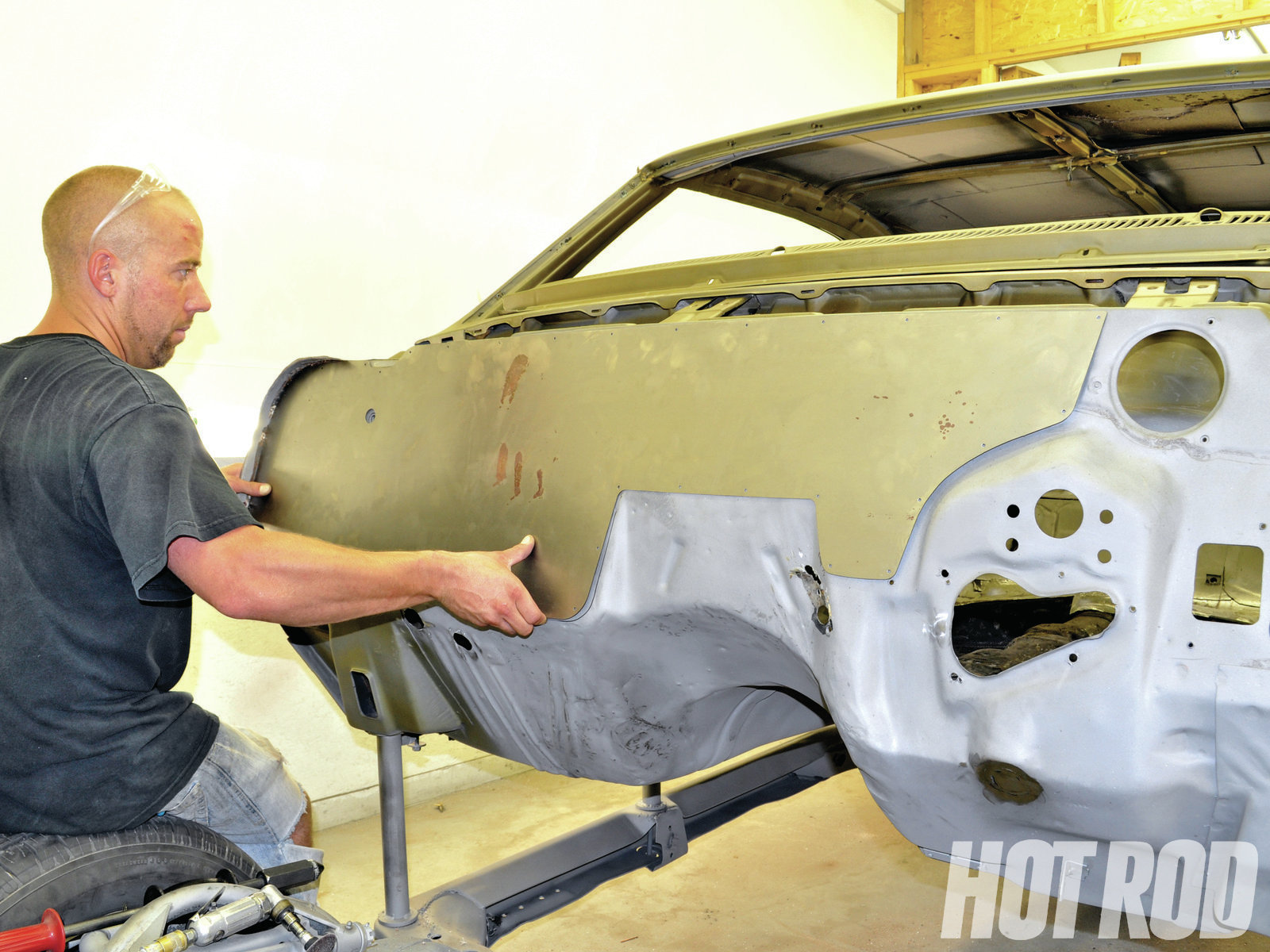 Smoothie Firewall Advanced Body & Color used an ABC Performance Firewall Smoothie panel for '64 to '72 GM A-bodies such as our Chevelle. These are U.S.-made, laser-cut panels that install over the factory firewall. Starting with the Firewall Smoothie panel makes the process that much easier; for other cars, you can make your own panel.