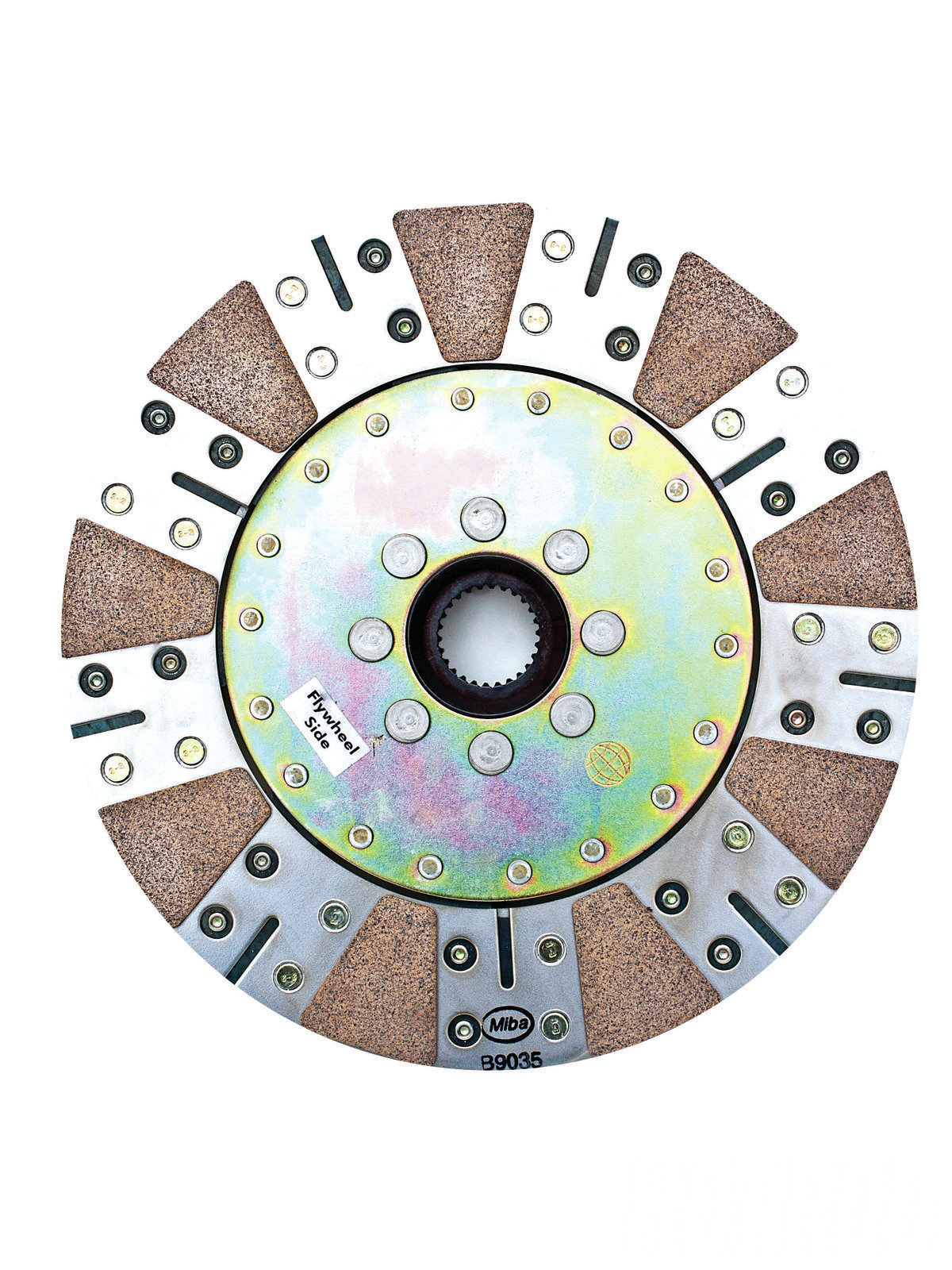 This is one of the clutch discs from McLeod's replacement '10-'11 Camaro RXT dual-disc clutch and pressure plate kit. The entire assembly, including flywheel, can support 1,000 hp.