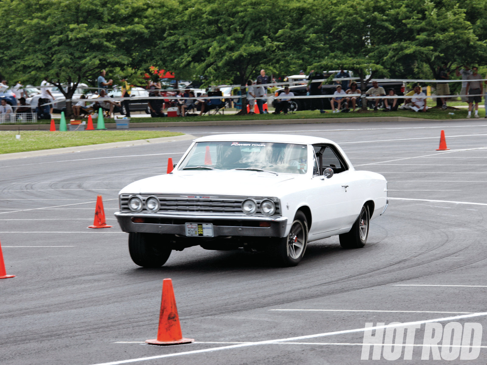 """Matt Makaryk got a two-week leave from his Army stint in Kirkuk, Iraq, and spent it on Power Tour® with """"The Ghost,"""" his '67 Chevelle. It has a fuel-injected 327, a TH700-R4 automatic, and a bone-stock suspension. This was his first time on an autocross, and you could see the grin from a mile away. He logged 2,781 miles on the trip."""