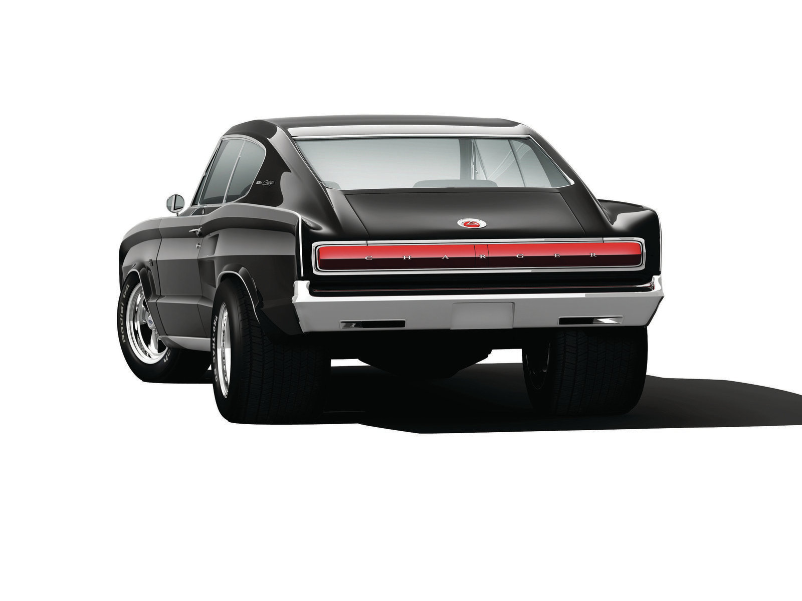 Try not to pass your soda through your nose when you compare the rear stance of the JHRS Charger with Billy Bob's swap meet special on the right. This is just wrong, but we still see it everywhere. If you see this car on the road, the banjo music won't be far behind.
