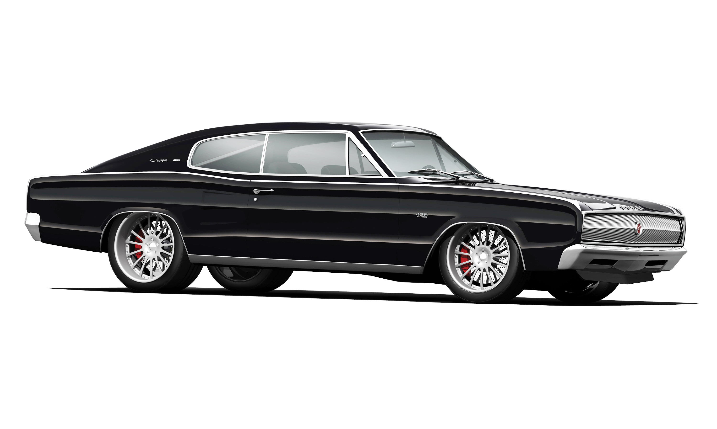 Frilly little spokes can turn a manly car like a '67 Charger into a mimosa-swilling cross-dresser. The Euro tuner look works on smaller ponycars, but the insanity needs to stop before it escalates to midsize muscle cars.