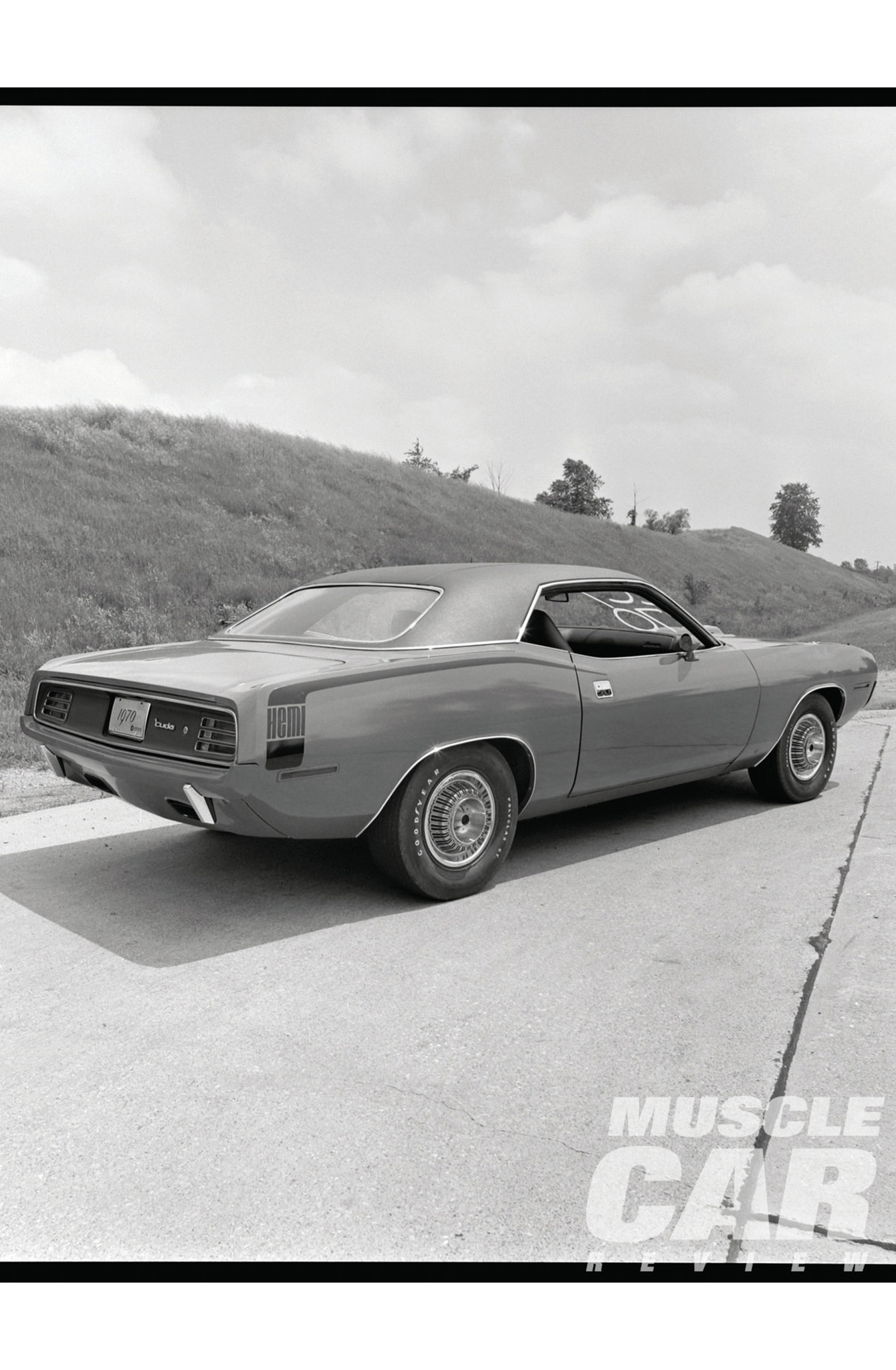 The new elastomeric bumper treatment on the 'Cuda could be ordered for the front and rear or just the front, putting it a step ahead of the GTO, according to the editors. (Note: Though the quotes in this story come from Motor Trend, the 'Cuda photos we used were shot in June 1969 by Car Craft Publisher John Raffa, who attended the same press event.)