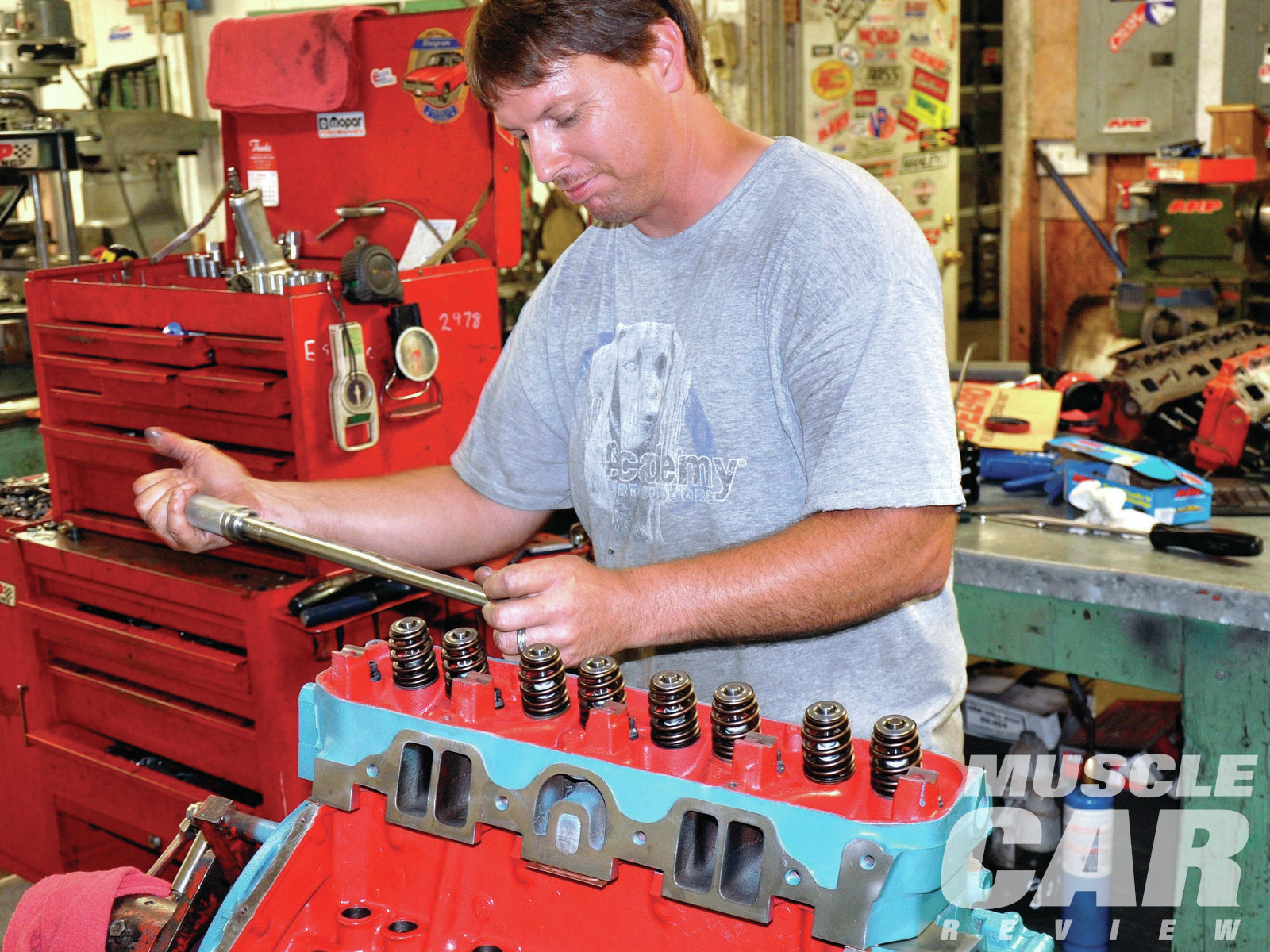 11 ARP head bolts were torqued to 80 lb-ft. If you are using OE bolts, torque the heads to 70 lb-ft. Check with your engine builder as to his recommendation for your application. (It doesn't hurt to go back and torque those bolts after startup and dyno pulls. I waited a couple days after dyno testing and torqued the heads again.)