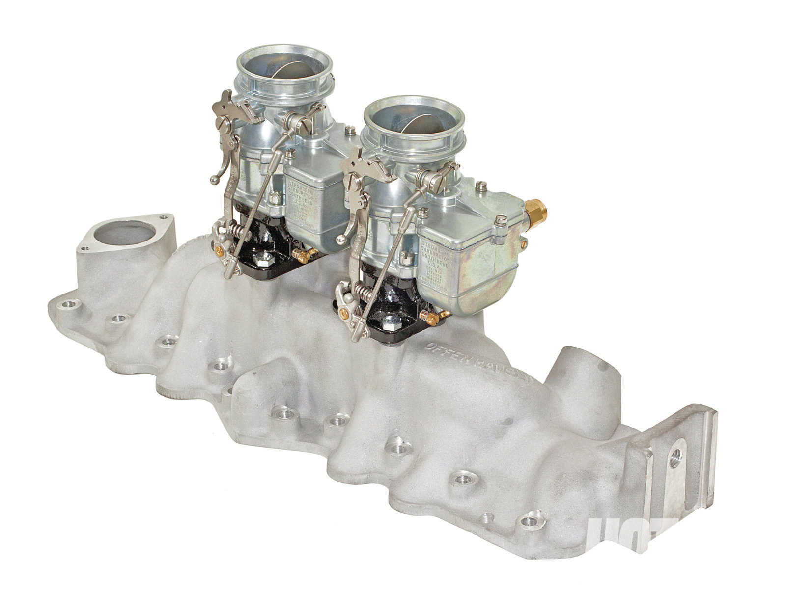 Said to be its most popular flathead intake, Offenhauser's 2x2 Regular intake has closely spaced carbs that will clear the stock generator. Offy makes two different versions for early and late flatheads.