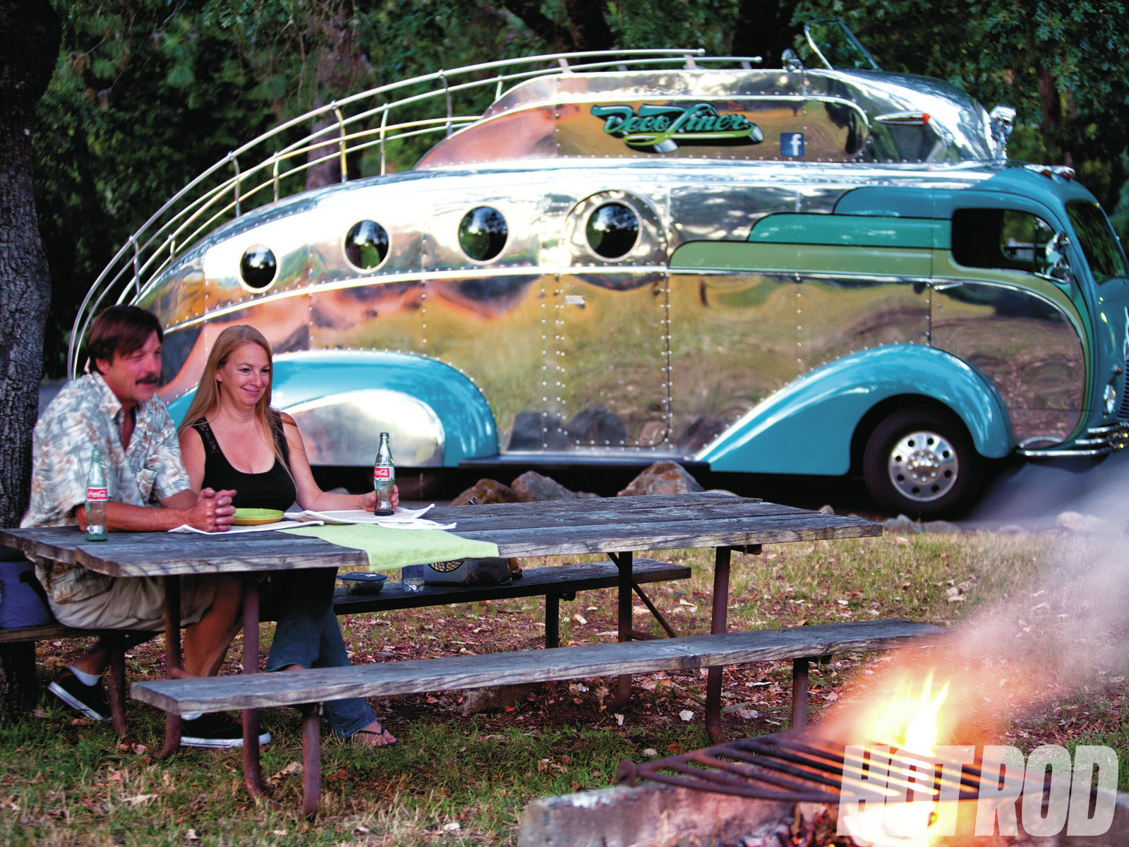 Randy and Jeannette have racked up more than 10,000 miles on the homemade DecoLiner and do use it for camping.