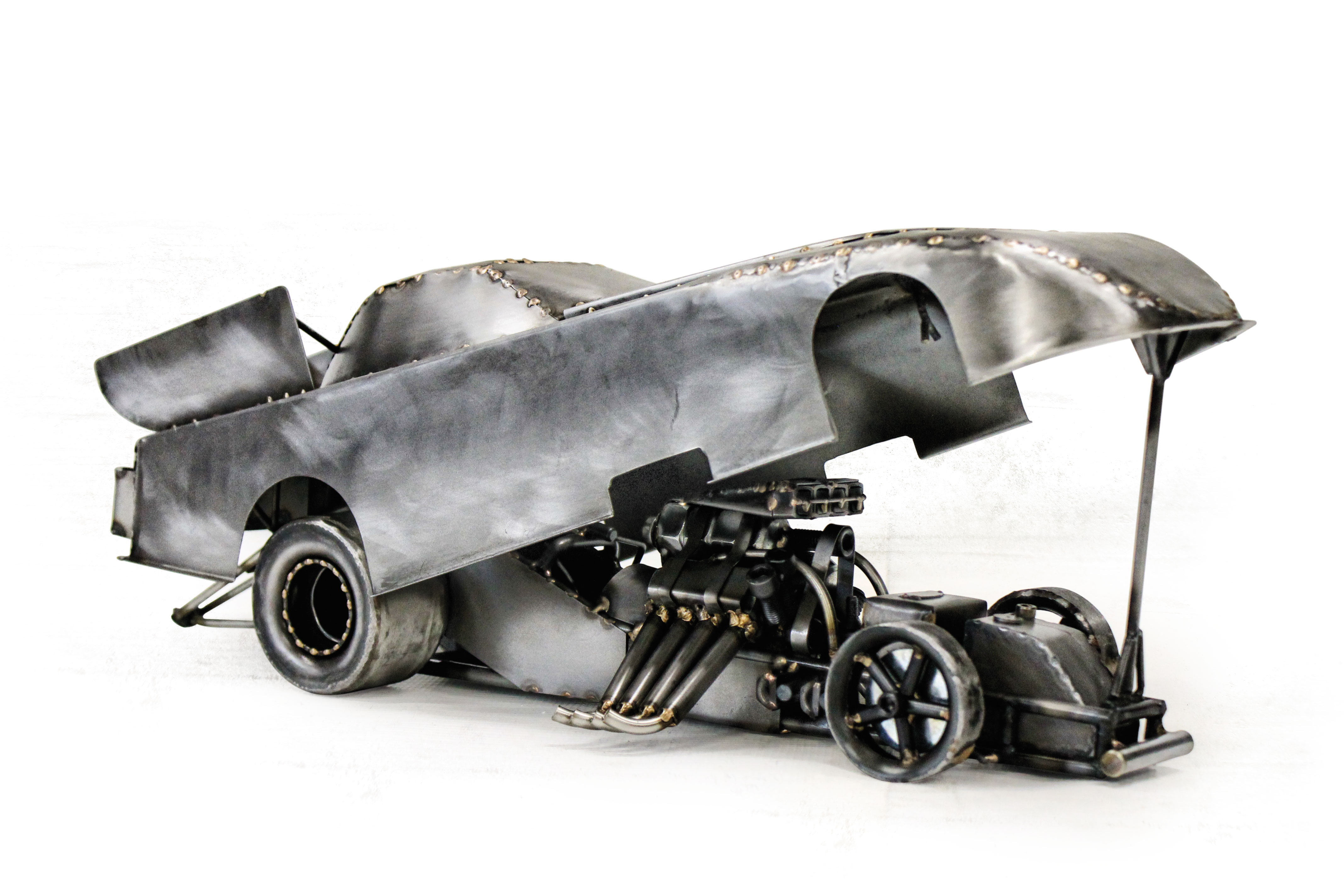 Thomas has built several Funny Cars; no two are the same.