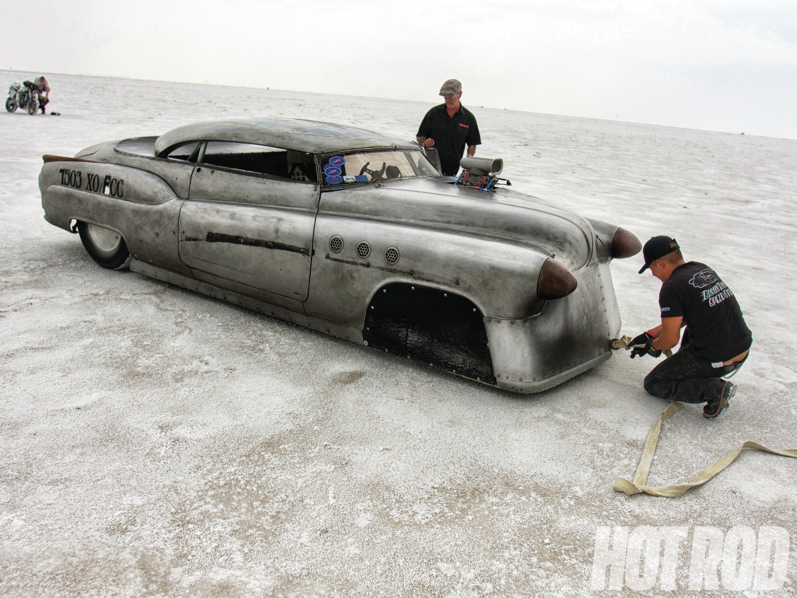 The tow distance from the short-course return road at Bonneville back to the pits is about 7 miles.