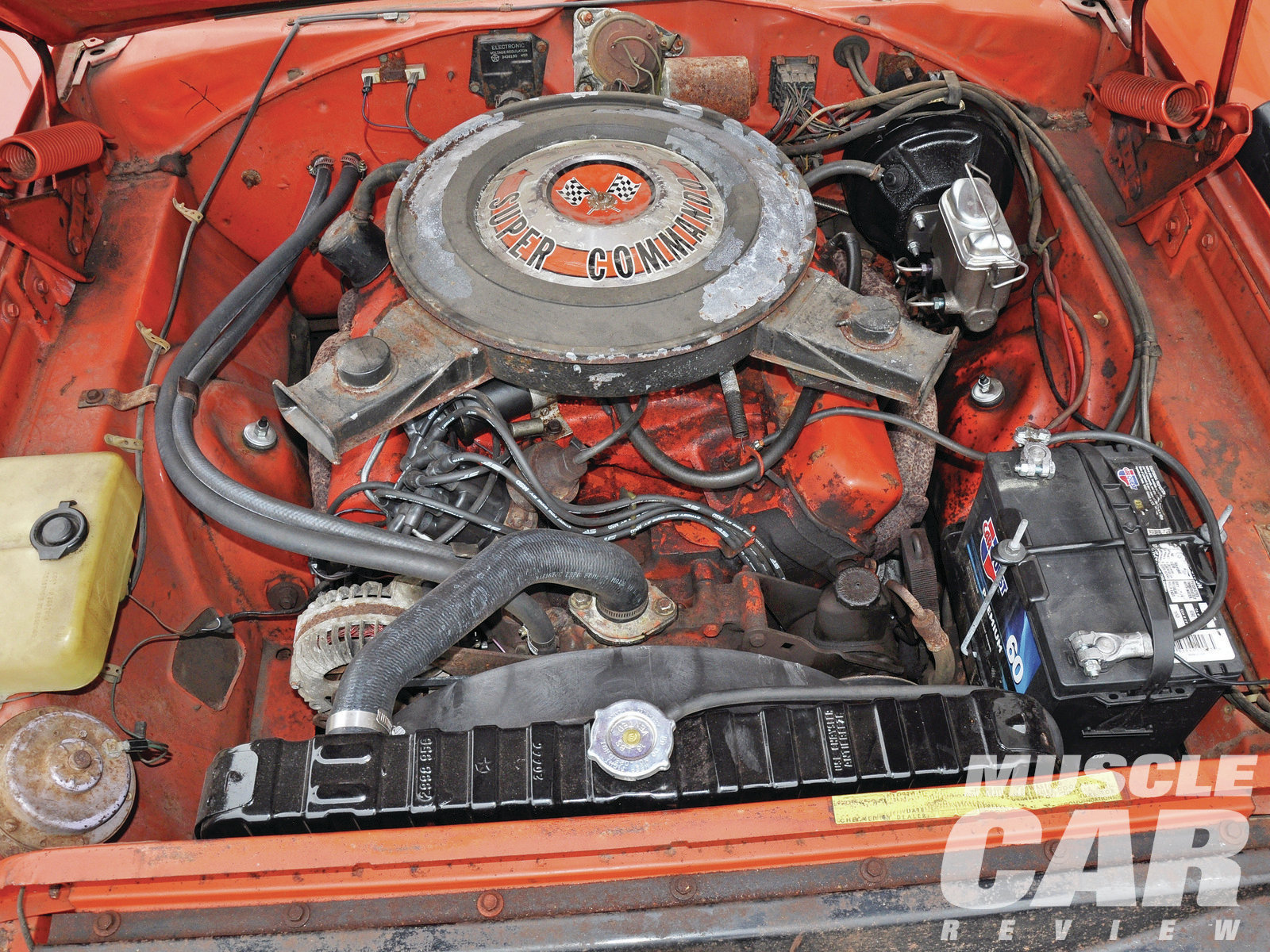 According to the Chrysler Historical Society, 1,084 units were built with the standard 440/375hp engine like the one in Kent's car, 716 were equipped with the optional 440/390 Six Pack, and 135 were powered by the Hemi.