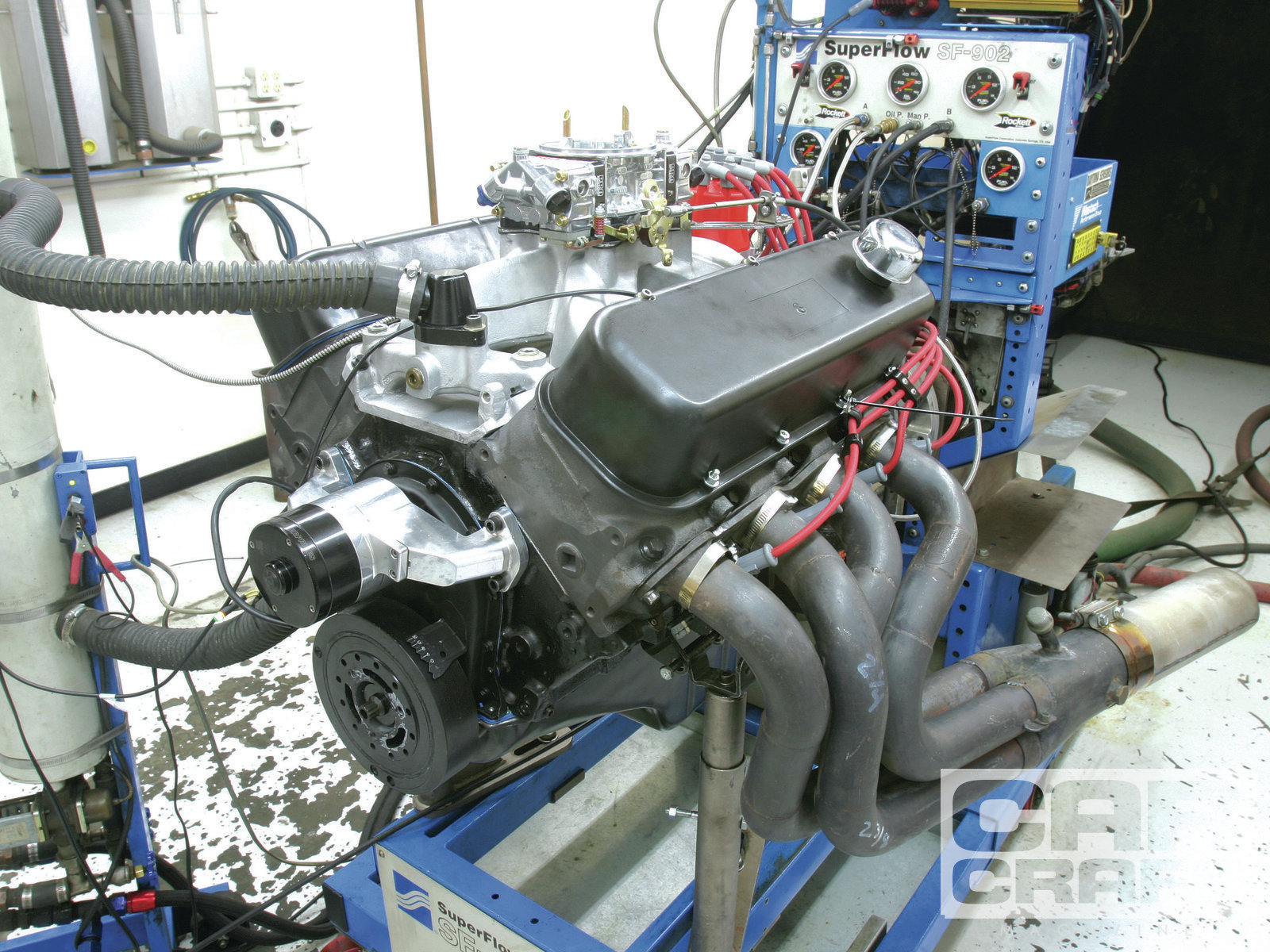 All our dyno tests were performed using a pair of 21⁄8- to 23⁄8-inch stepped headers with no mufflers on Westech's engine dyno. End