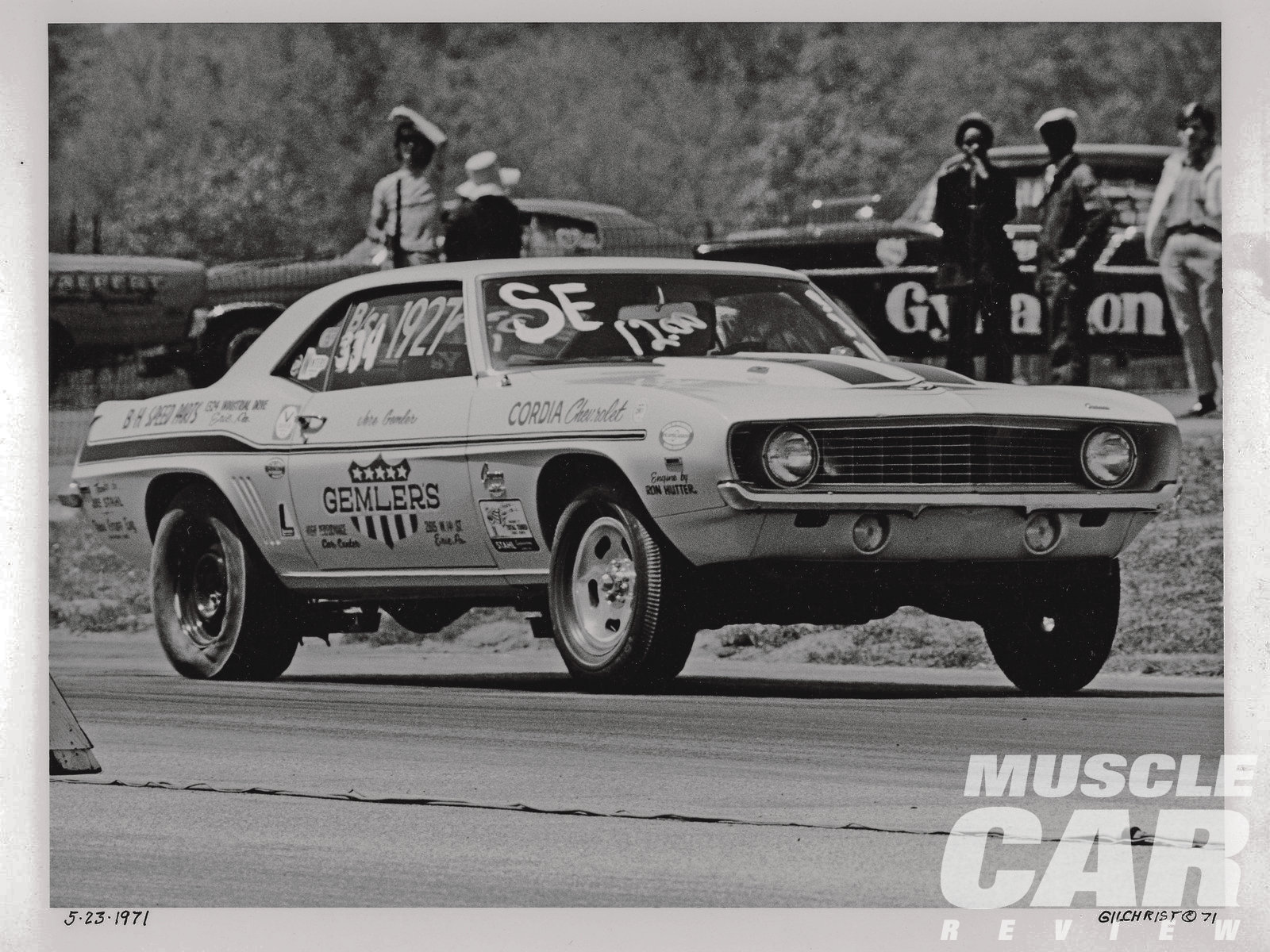 Back in the day, Jere and his Yenko spent a lot of time at the drags competing in the Pure Stock, Stock, Super Stock and Modified Production classes. This early photo taken at Thompson Dragway by Charles Gilchrist shows the Yenko competing in B/SA with Stahl headers, drag slicks, and a Ron Hutter–blueprinted engine.