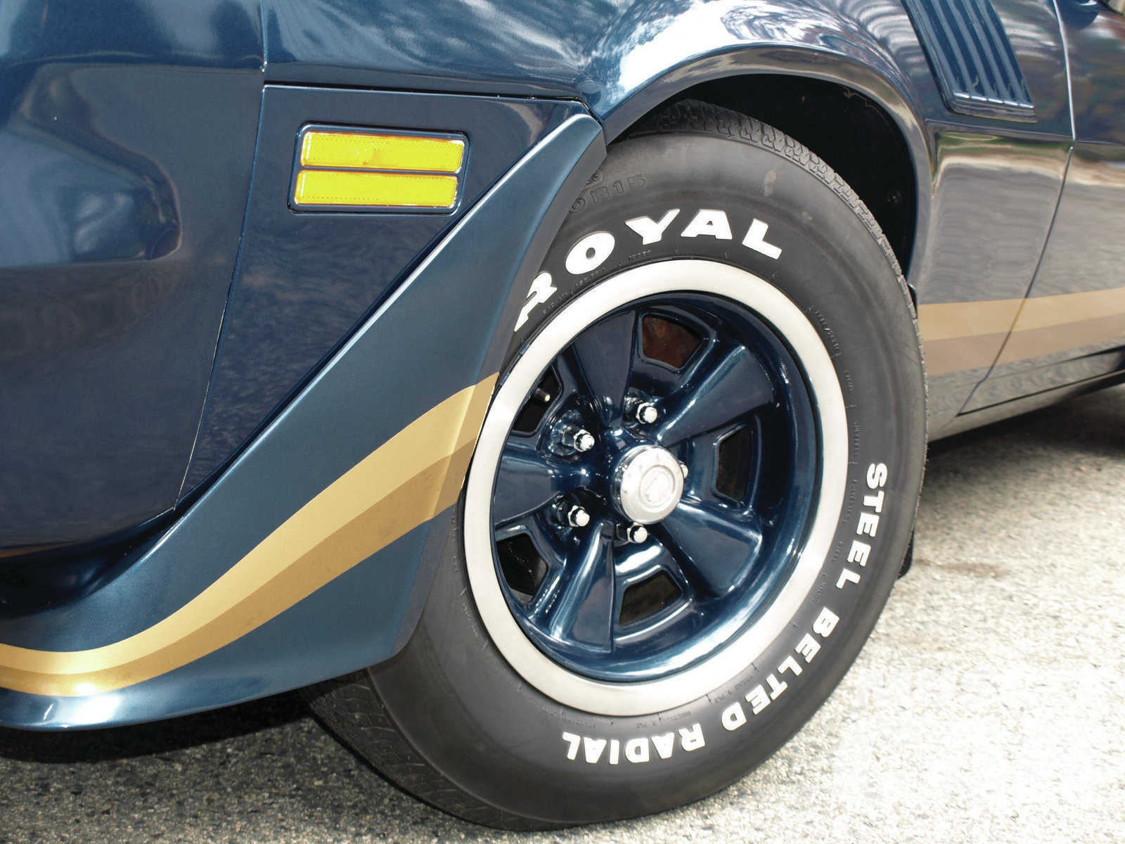 Despite being more than 30 years old, the original Uniroyal tires are in great condition and are free of dry rot. Chevrolet got plenty of mileage out of the unique 15x7JJ styled-steel wheels, which first appeared on the '70½ Z28 but also saw use on Chevelles starting with '71 models.