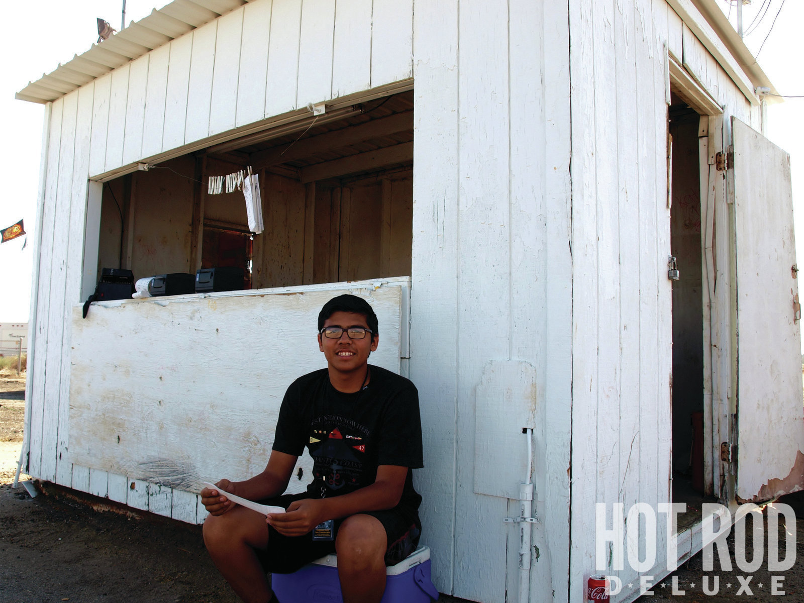"Meet Chris Castillo, a 17-year-old senior at Bakersfield's Stockdale High School, who started out working Famoso's water box last March and has graduated to running the e.t. shack. Chris digs the interaction with racers: ""It's nice to see the happy ones. Some are so happy to win that they cry! My favorite class is A/Gas; the cars are fast [7.60 index], and they're cool. I'd like to run a sportsman car someday, and work my way up to A/Gas."" Rest easy, America, drag racing's future is just waiting its turn. Big surprise: Chris's dad and uncle both spin wrenches."