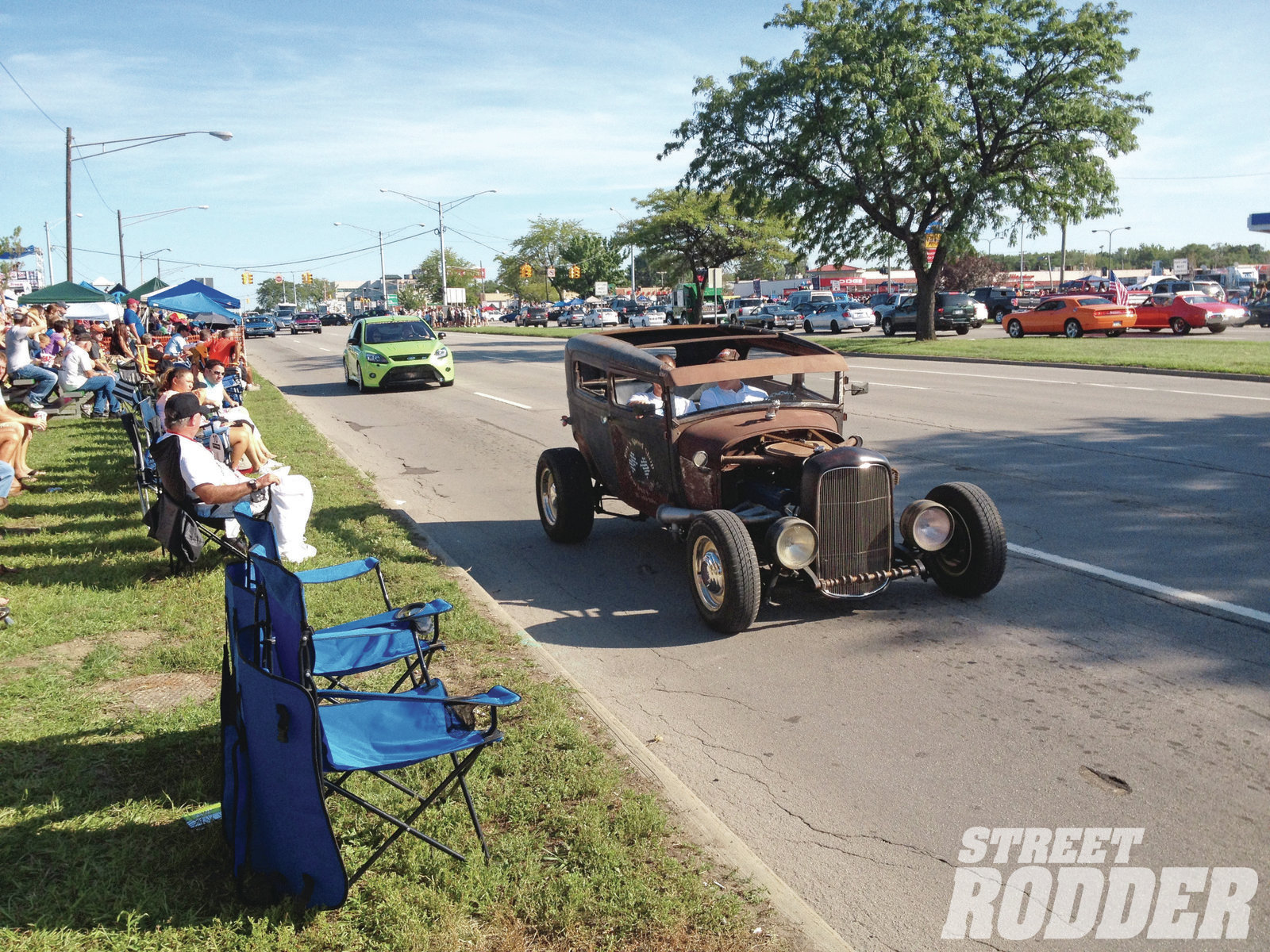 This was the scene the entire day on Saturday. The Dream Cruise brings out all types of special-interest vehicles that cruise Woodward Avenue to the delight of spectators lining 10 miles of the famous boulevard.