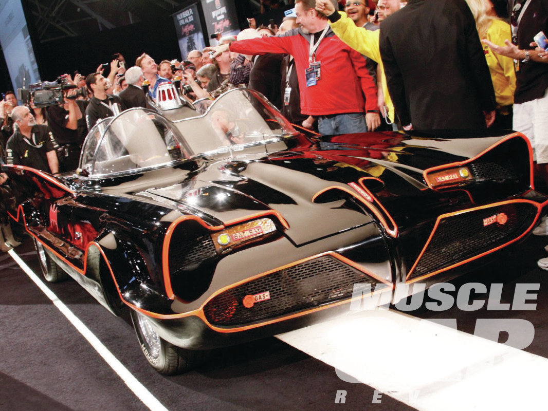 The original television Batmobile, built by George Barris out of the '55 Lincoln Futura show car, set a record at Barrett-Jackson for the highest price paid for a TV or movie car when it sold for $4.62 million. Not a bad return on investment, considering Ford sold Barris the Futura for a dollar.
