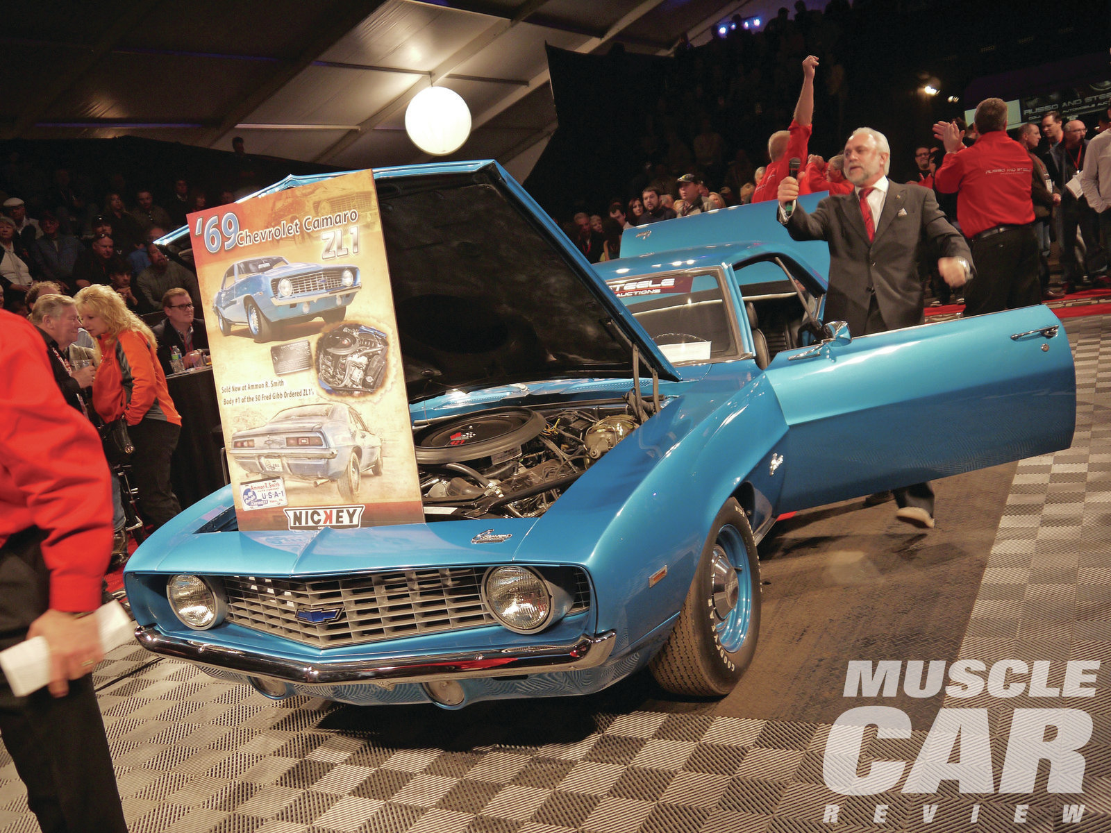 Another Camaro supercar, this one significant as the first of Fred Gibb's 50 ZL-1s, sold at Russo & Steele for $605,000.