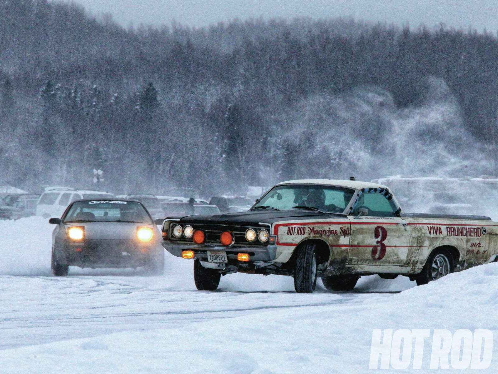 Finally, big thanks to the Alaska Sports Car Club (established in 1958) for hosting us at the ice races on Big Lake. The crew was amazingly accommodating to a couple Californians in a stupid car that had no business being there. Hot Rod