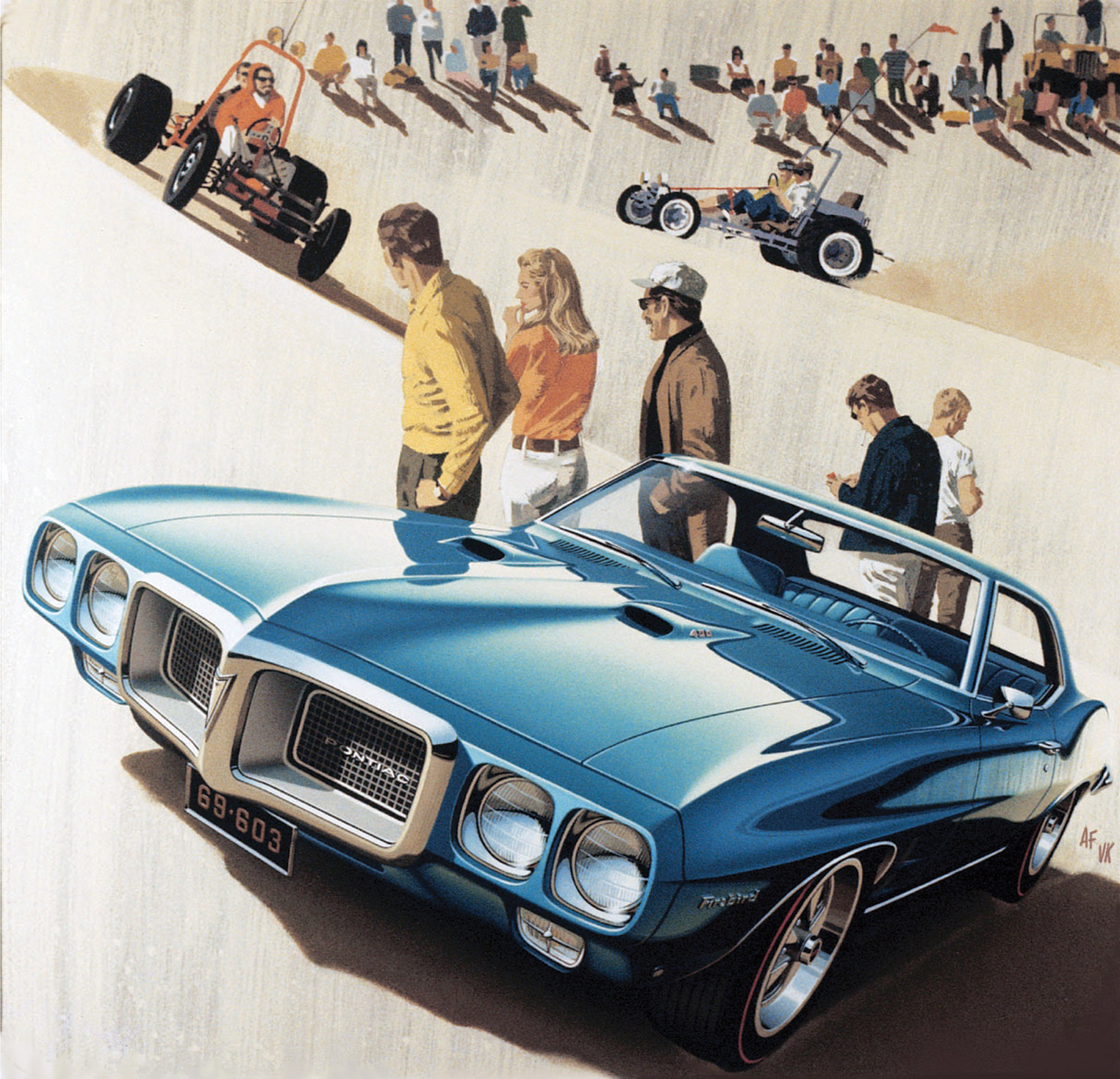 The inspiration for Desert Song (featuring a '69 Firebird) could have easily been a weekend of fun at Pismo Beach, Glamis, or any number of Southern California hot spots.