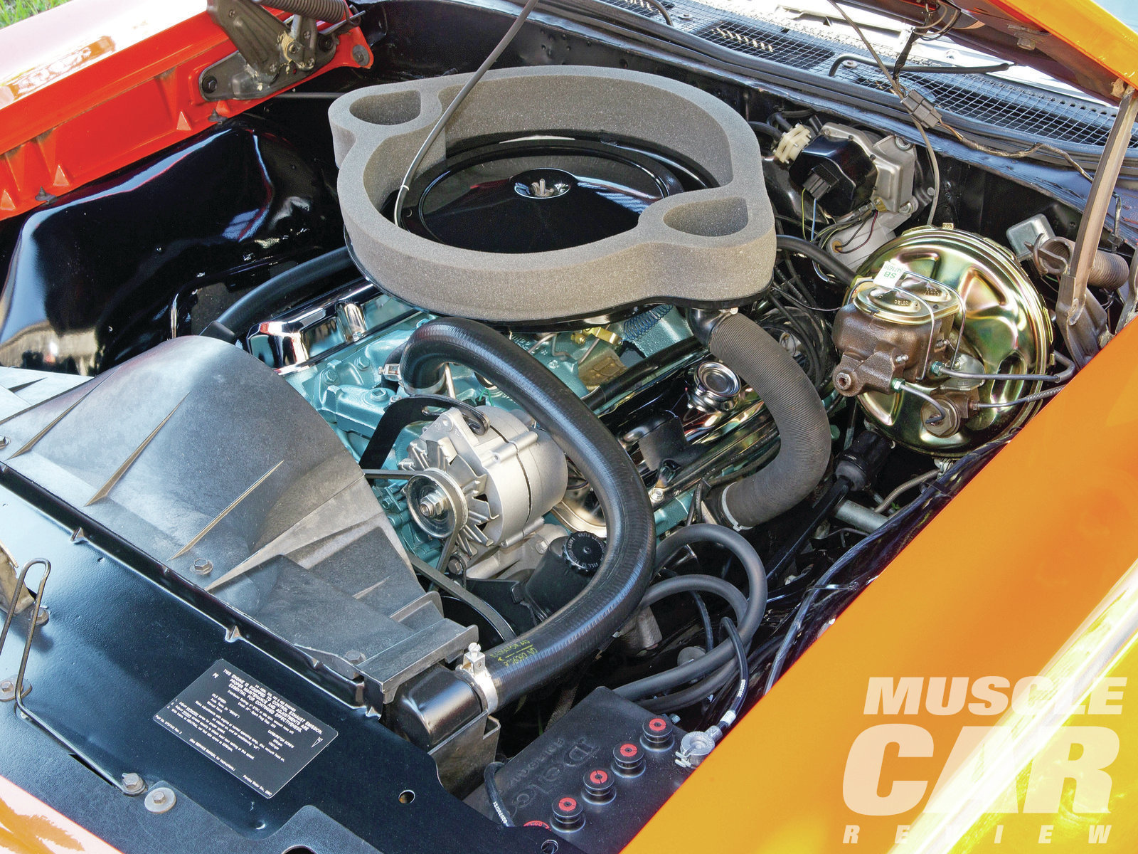 The one area of the Judge that needed the most work when Rich bought it was the engine bay. It received a serious freshening, though nearly all the components—including the plug wires, hoses, and clamps—are original. Only the battery and the exhaust system have been replaced.