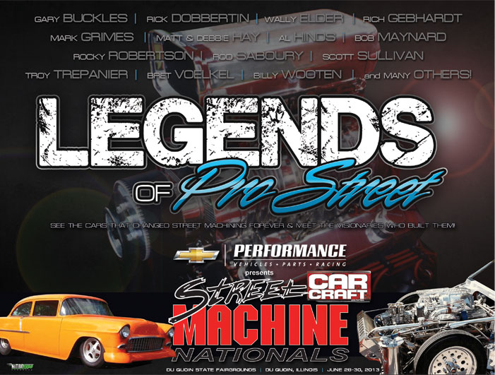 The Legends of Pro Street at the 2013 CAR CRAFT Street Machine Nationals