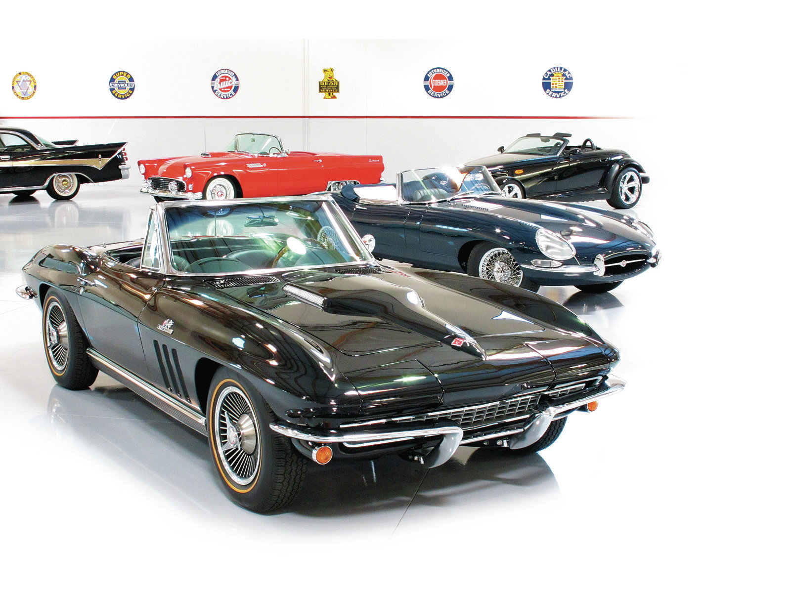 Carpenter's collection is varied, to say the least, and includes muscle cars, sports cars, '50s cars, even a couple of Ferraris.