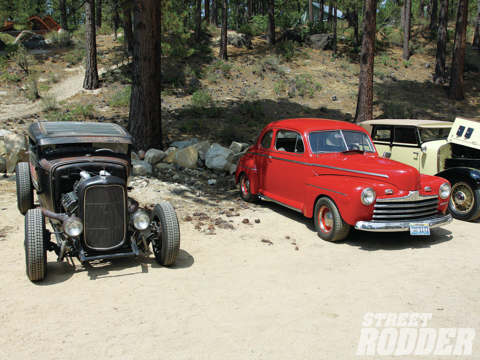 The Chadly coupe on the shore at South Lake Tahoe.
